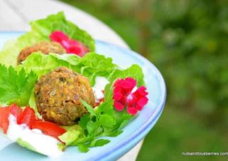 Nut and seed falafel with cashew butter