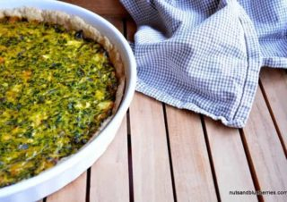 Feta spinach quiche with oat flour