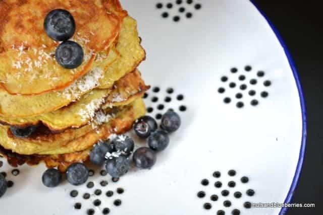 Bananen Blaubeer Pancakes II