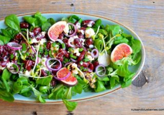 Red bean feta cheese salad