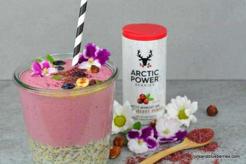 Creamy Lingonberry Raspberry Smoothie