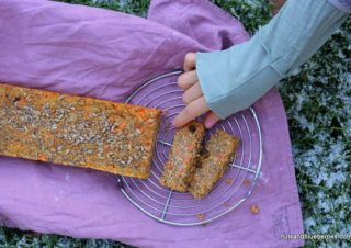 Natural Sweetened Carrot Almond Loaf