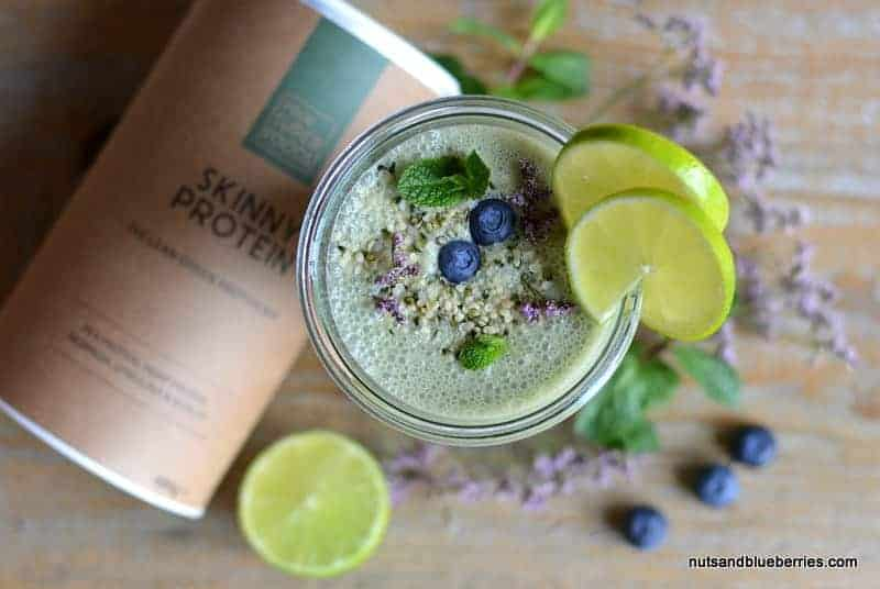 Skinny Protein Smoothie with lime