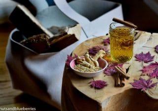 Healing Ginseng Tea against headache, migraine or detoxifying