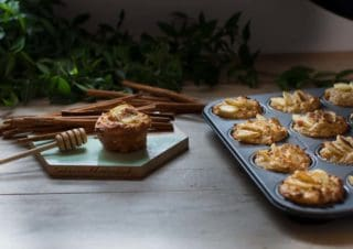 Slow down with moist apple yoghurt muffins