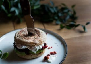 Kill the Beetroot Burger with Tzatziki