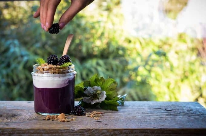 Acai Berry Mousse with yoghurt